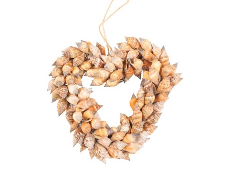 Valentine's Day Wreaths Shell Heart