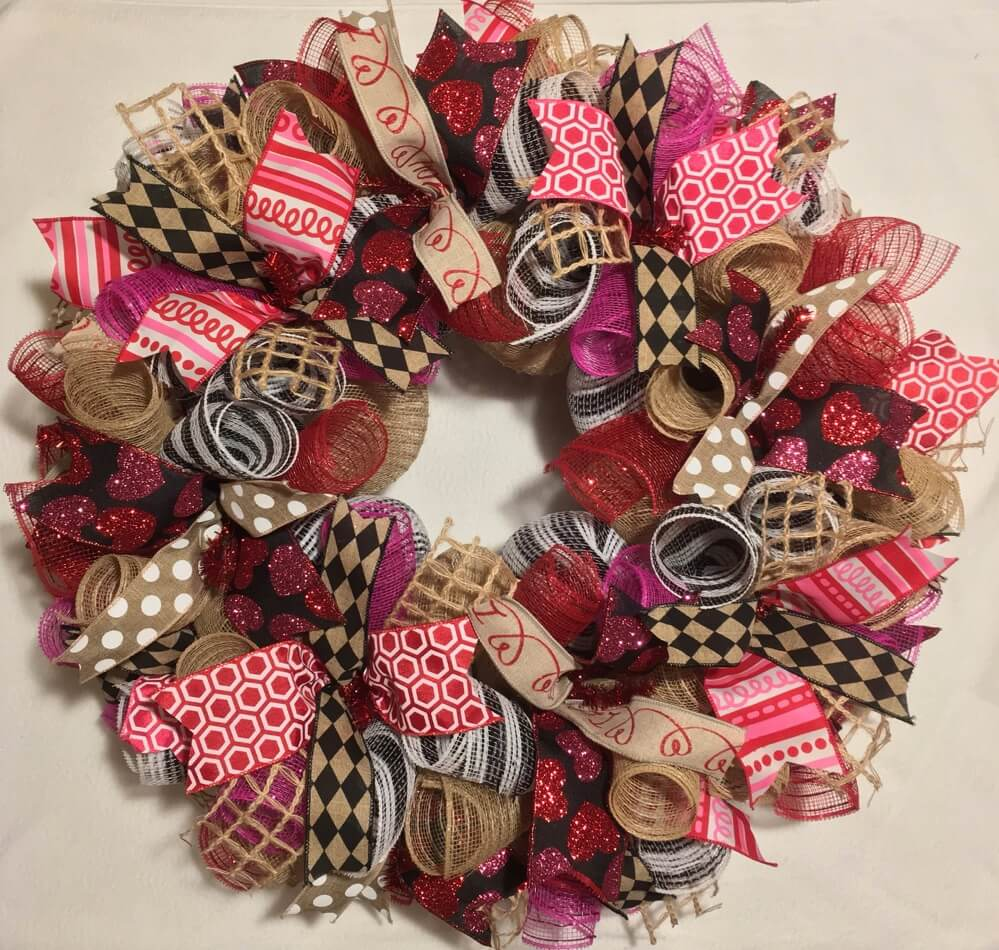 Valentine's Day Wreaths Fabric Texture