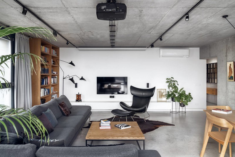 Modern Penthouse in Krakow Displays Intriguing Contrasts