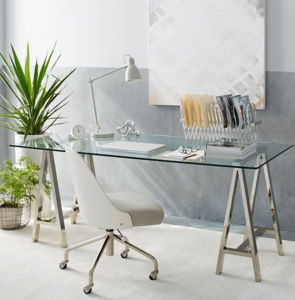 Office Desk Ideas Glass Home office desk