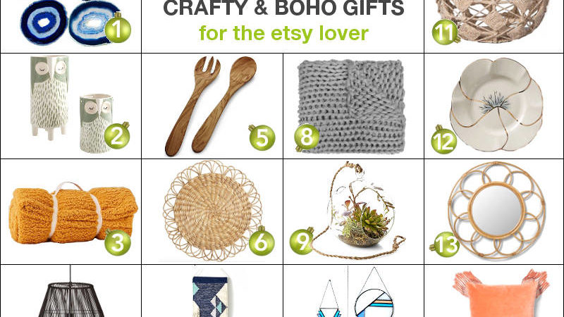 Freshome Holiday Gift Guide: Crafty Boho-Chic Gifts For The Etsy Lover