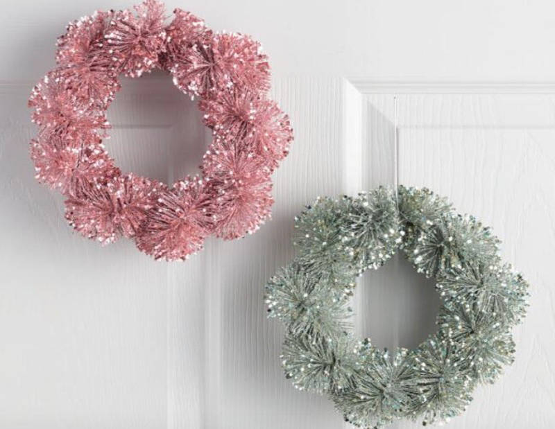 colorful holiday wreaths
