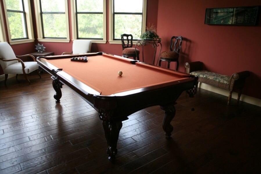 Pool table smaller