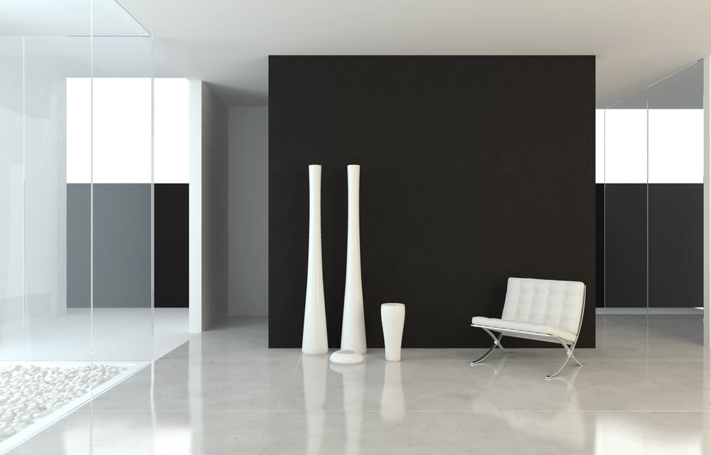 Black Walls White Accents