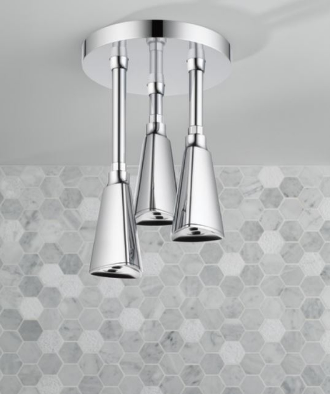 Delta H2OKinetic Pendant Raincan Shower Head