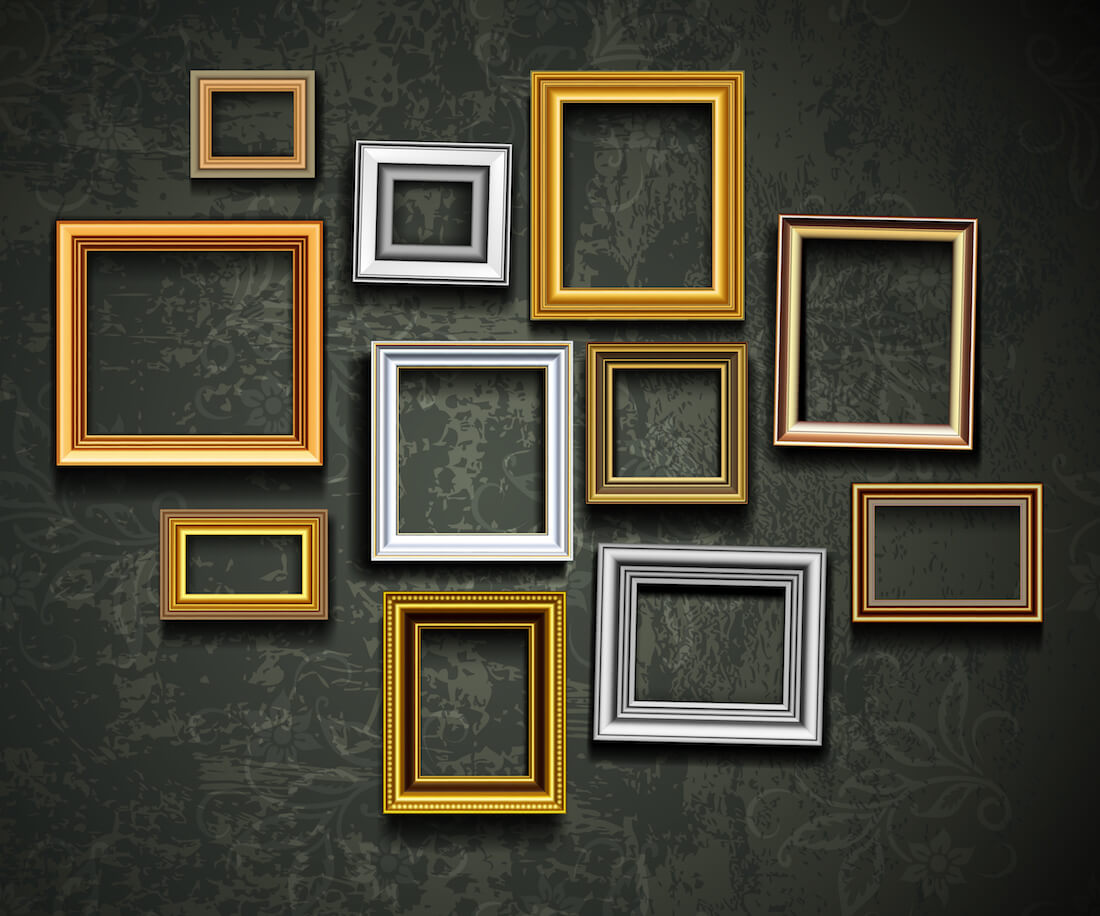 Empty Frame Gold Style