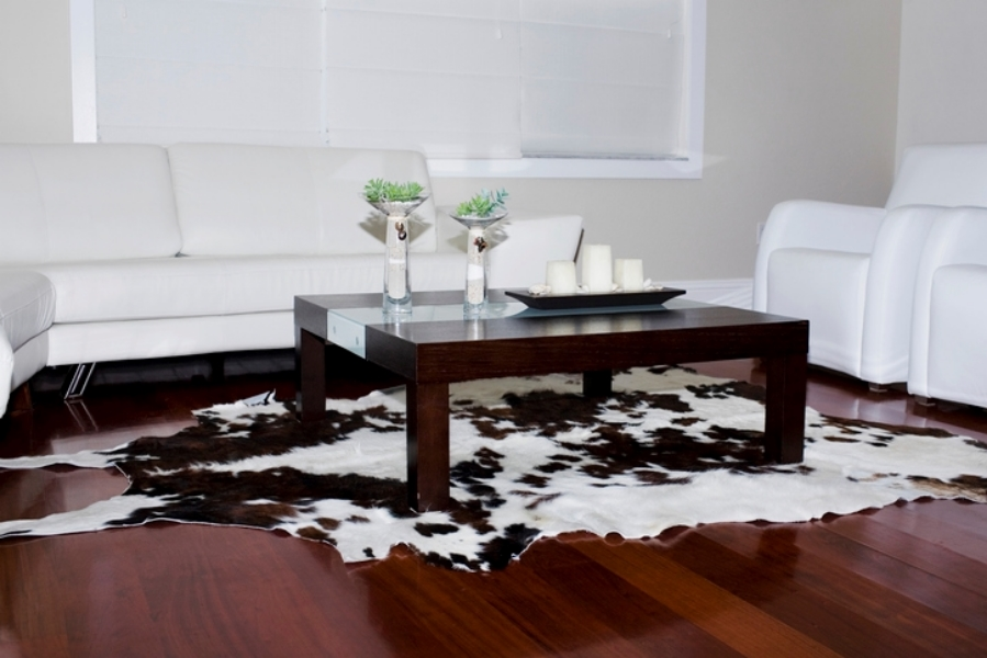 Fake cowhide can be used anywhere