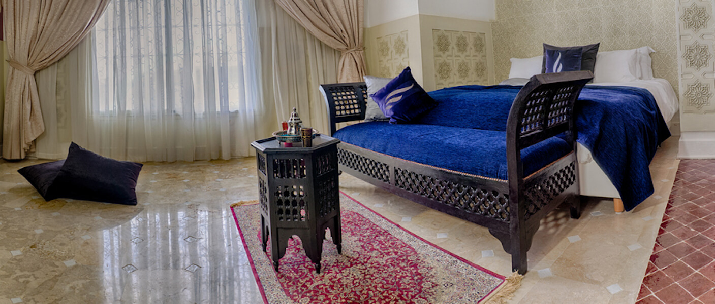 Moroccan Chic Blue Bed