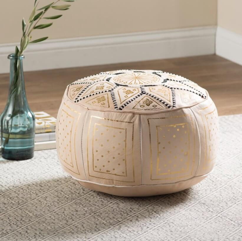Moroccan Chic Pouf Style