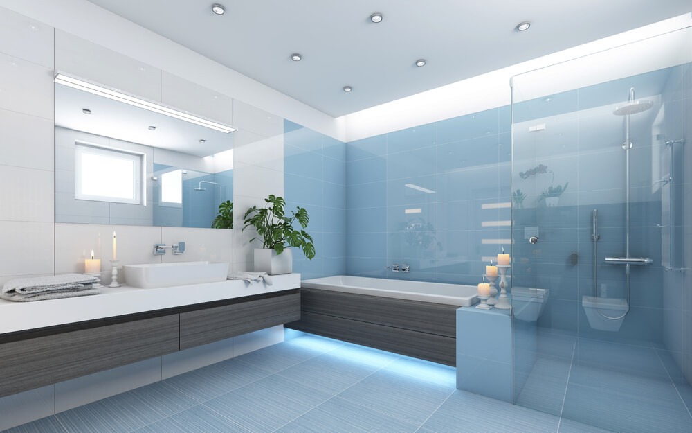 Open Design Showers Blue Style