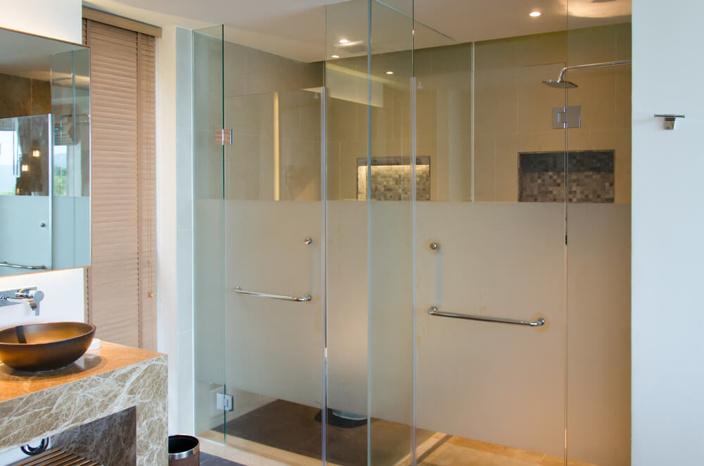 Open Design Showers Frosted Style