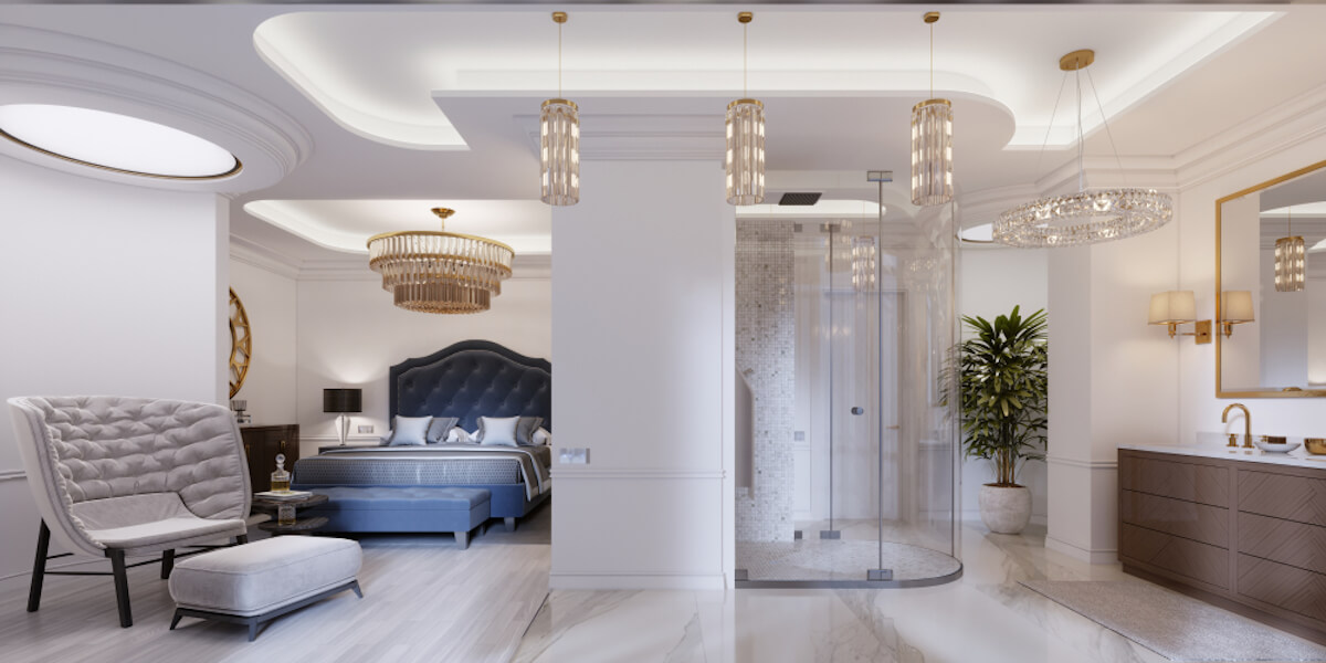 Open Design Showers Rounded Style
