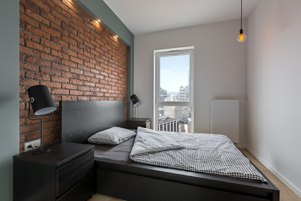Rustic Brickwork Bedroom Space