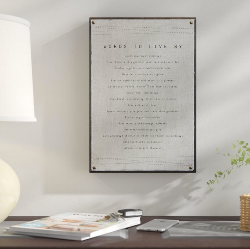 4 Ways To Use Script Wall Art In Your Home Freshome Com