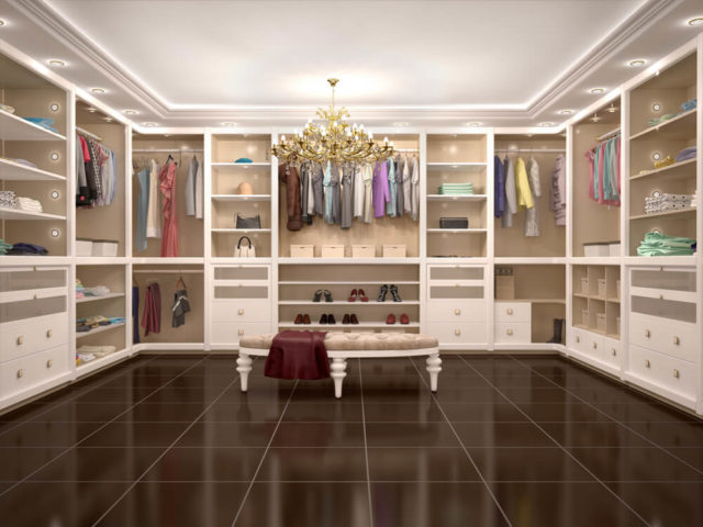Walk-in Closets Chandelier Style