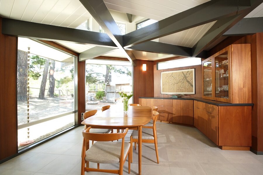 dining ceiling beams