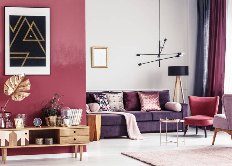 Decorating With Purple And Berry Tones