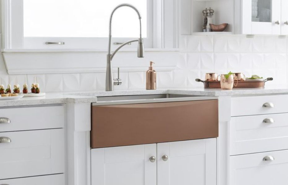 Elkay Farmhouse Sink with Interchangeable Apron