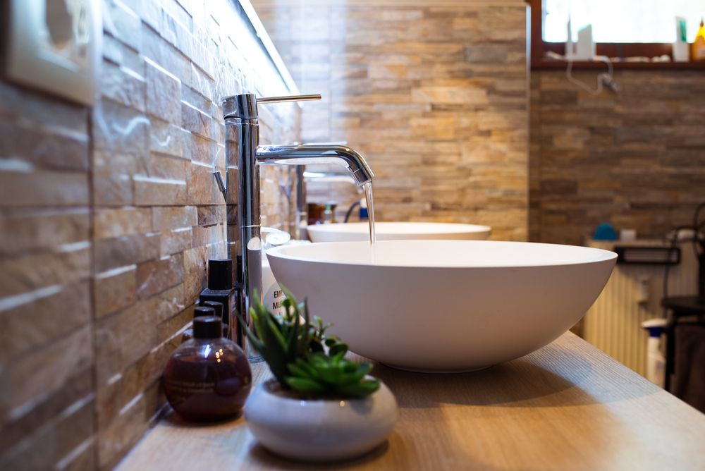 Vessel sinks come in a variety of shapes and materials.