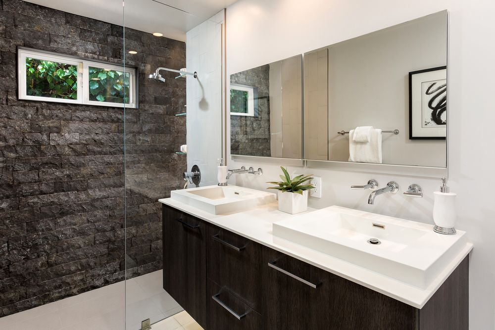 Drop-in sinks are easy to install.