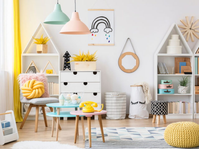 Colorful child's playroom