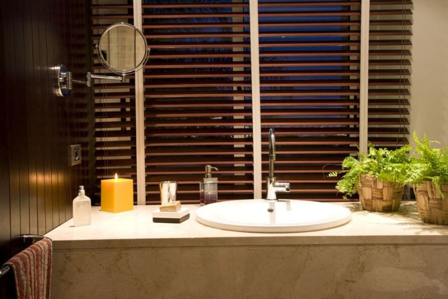Window Treatments -wood and faux wood blinds