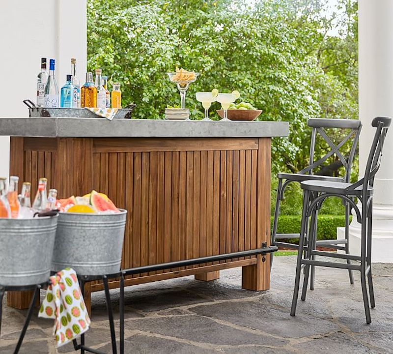 outdoor bar - pottery barn bar