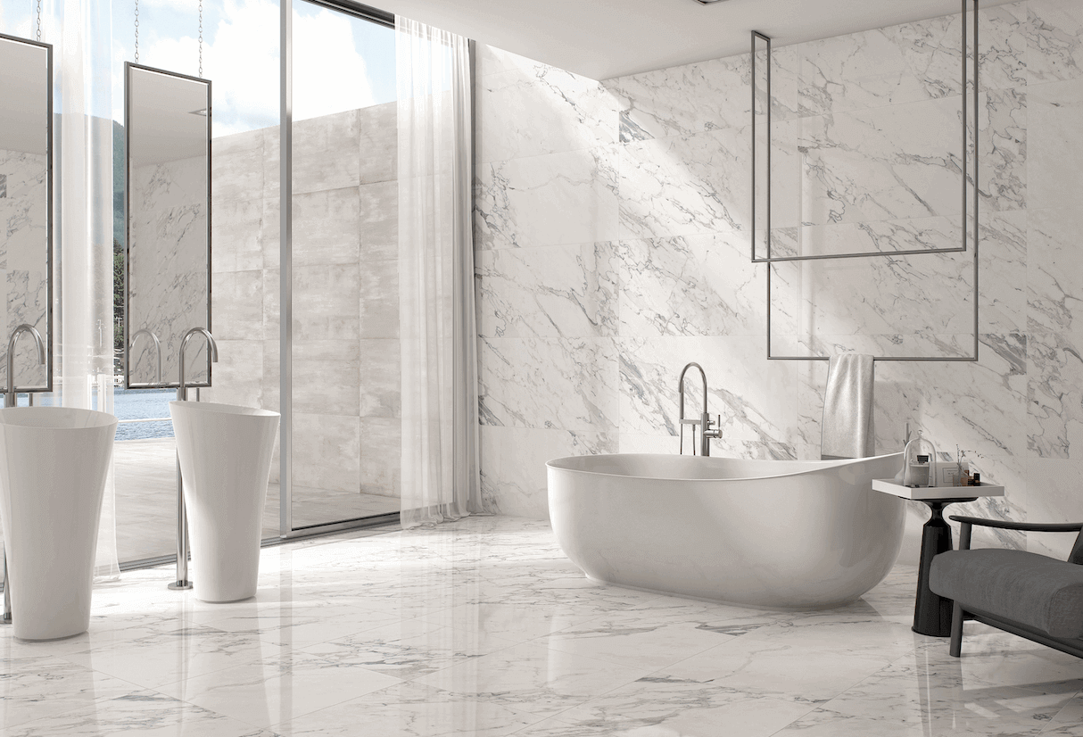 Vitromex Conde Porcelain Marble Collection.