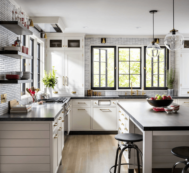 A kitchen designed by Madeleine Sloback. Photography by Amanda Oster.