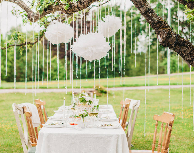 garden wedding decorating ideas