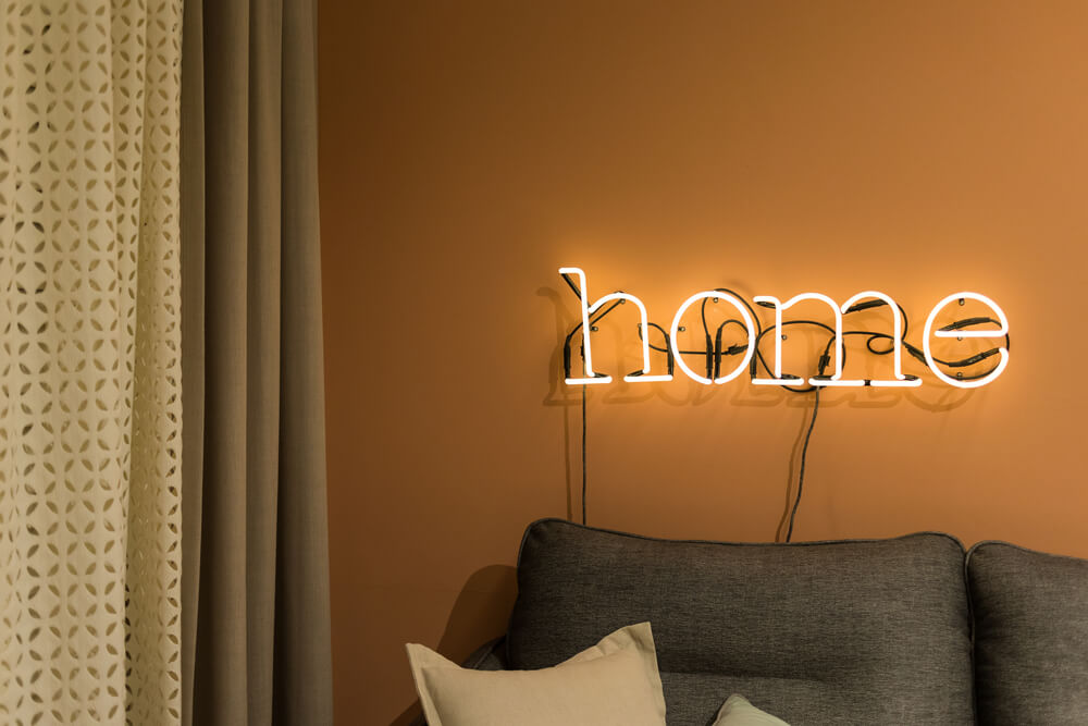 Neon Lights Home Sign