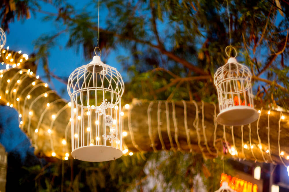 Rustic Lighting Cage Style