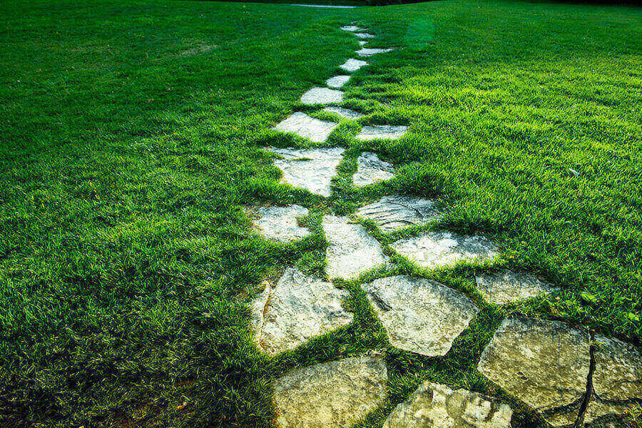 Stepping Stone Pathways Grass Style
