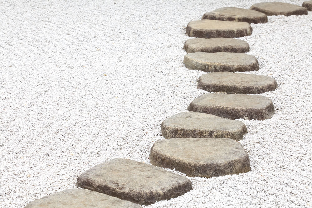 Stepping Stone Pathways Zen Garden