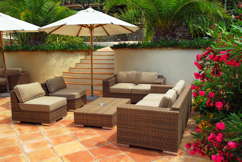 saltillo tiles outdoors