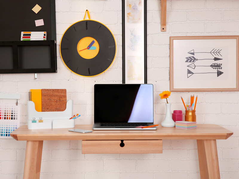 Modern home office with quirky style