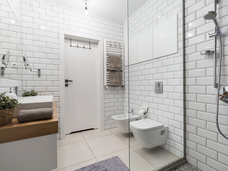 European style white bathroom