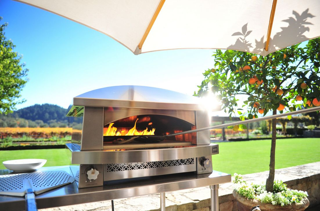 Stainless steel would look good in your backyard.