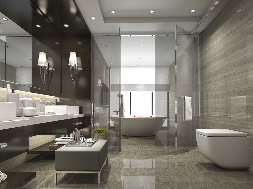 Bathrooms recreate spa experiences.
