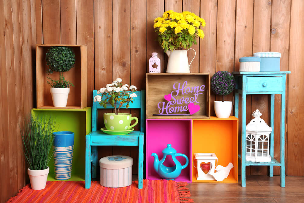 Home Organizers Painted Boxes
