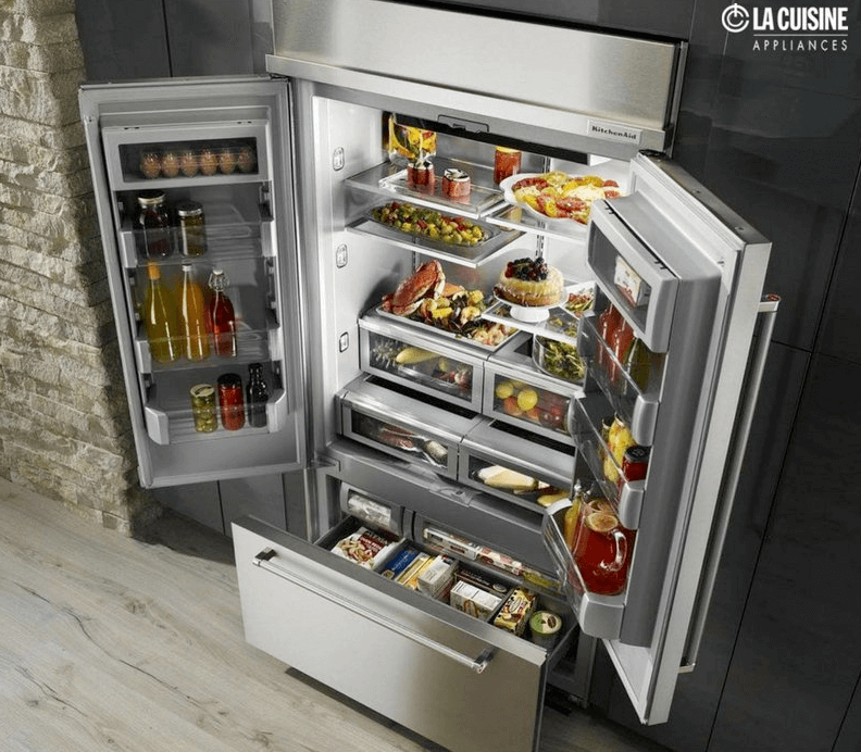 There's plenty of room in this Kitchenaid Built-in French Door Refrigerator.