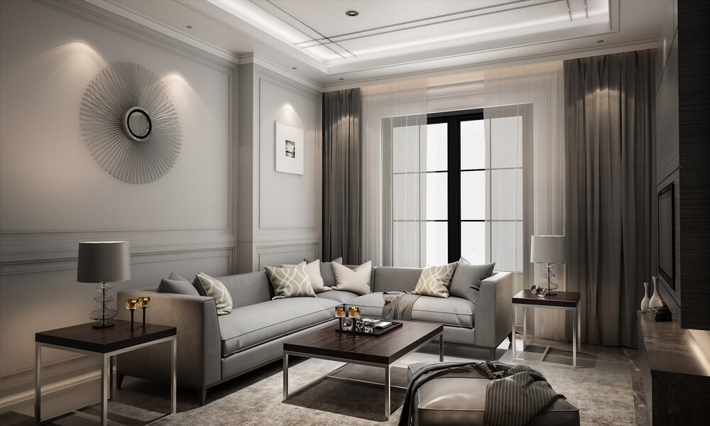 Living areas can recreate the elegance of hotel suites.