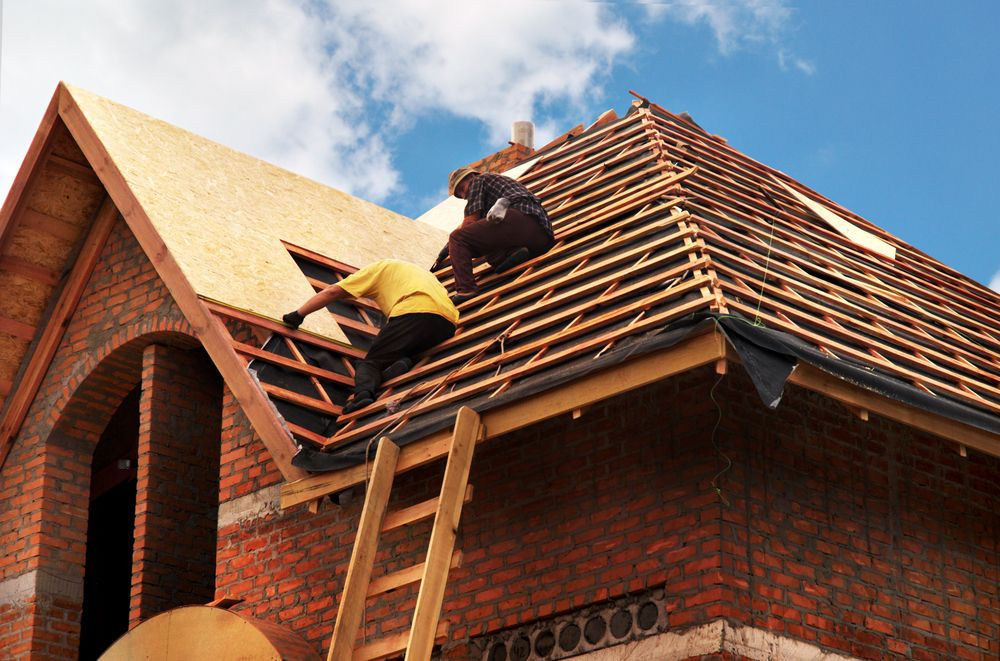 Roof repair is one common emergency home project.