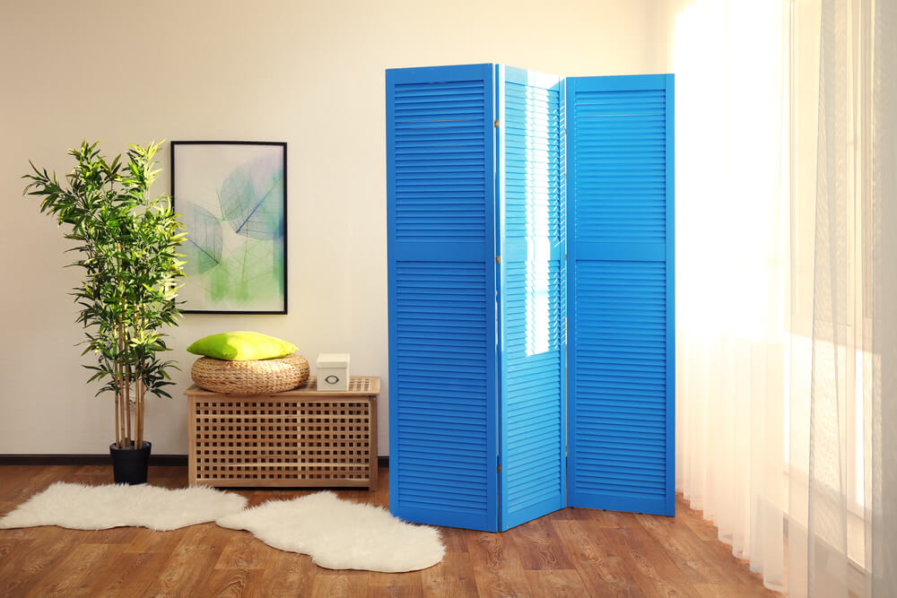 Room Dividers Blue Accent