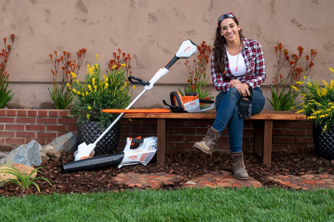DIY TV host and landscape designer Sara Bendrick. Image courtesy of STIHL